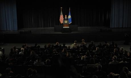 President Barack Obama speaks at Newtown vigil