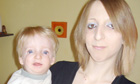 Clare Secker, 19, who died of bronchopneumonia in 2008, pictured with son Tyler
