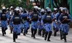 Maldivian riot police