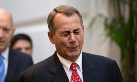 Speaker of the House John Boehner winces