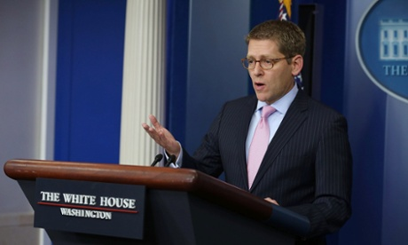 White House press secretary Jay Carney speaks during a briefing