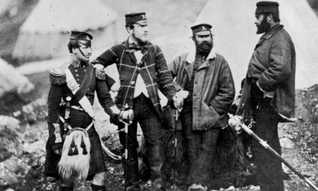 Officers of the 42nd Highlanders regiment during the Crimean War