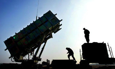 A Dutch Patriot missile installation