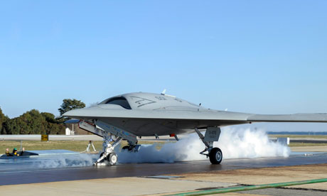X-47B Unmanned Combat Drone