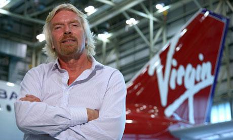 Richard Branson, boss of Virgin Atlantic