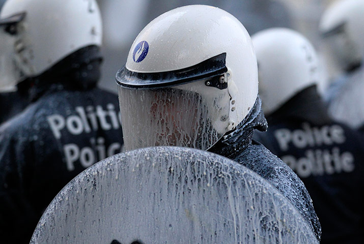 Pics of the Year 2012: Riot police by Yves Herman