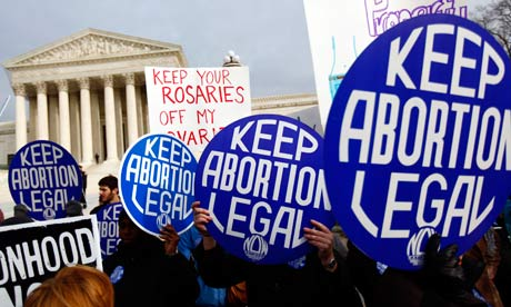 Pro-abortion protesters in Washington