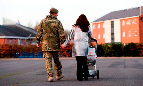 Soldier with partner and baby