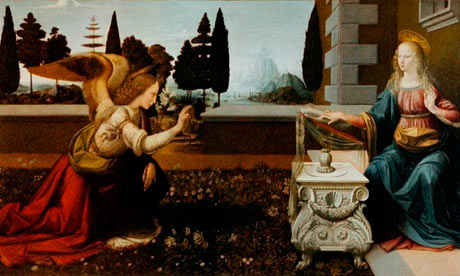 Leonardo da Vinci's The Annunciation