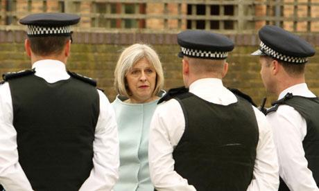 Home secretary Teresa May visits York Road Estate