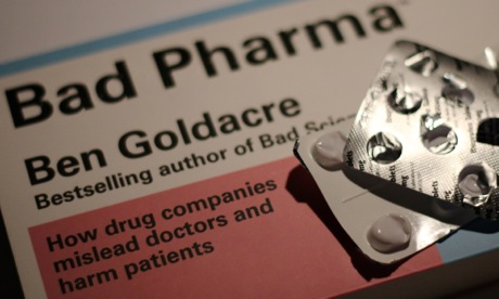 Cover of Ben Goldacre's book, Bad Pharma