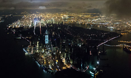 Blackout in Manhattan in the aftermath of superstorm Sandy