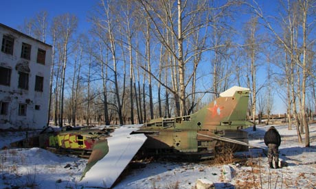 Soviet MiG fighter http://www.guardian.co.uk/world/2012/dec/27/russia-china-cross-border-trade