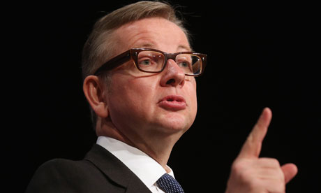 Photograph of Michael Gove sermonising