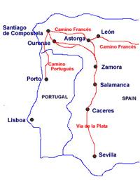 pilgrimage route to Santiago