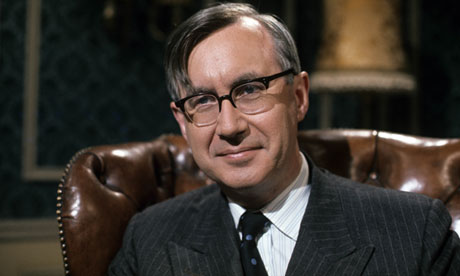 William Rees-Mogg during his tenure as editor of the Times