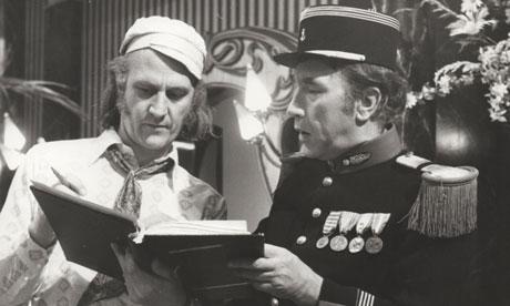 Bob Kellett, left, with Frankie Howerd
