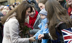 The Duchess of Cambridge in Cambridge last week