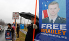 Supporters of Bradley Manning
