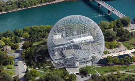 Biosphere geodesic dome Canadian environmental museum Montreal Quebec Canada