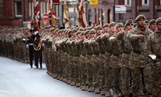Soldiers from 3rd Battalion The Yorkshire Regiment march through the streets of York during a homecoming parade. The soldiers have recently completed a six-month tour of duty in Afghanistan where they lost seven comrades including six in one Taliban attack.