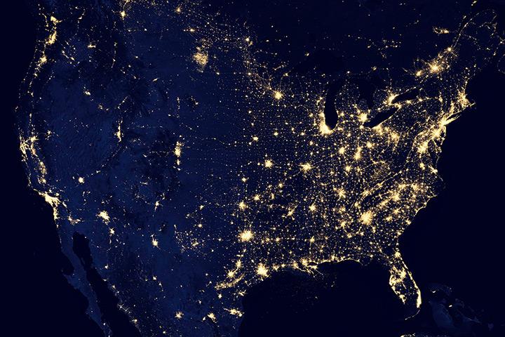 Celu è spaziu The-United-States-at-nigh-004