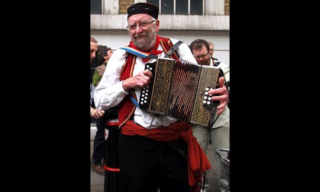 Doug Adams played at the Sidmouth and Dartmoor folk festivals