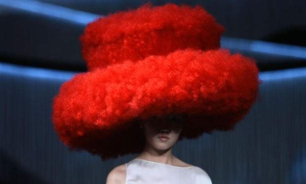 Where did you get that hat? A Rebecca Wig fashion show in Shanghai, China.