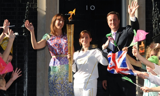 This is the photograph that's on David and Samantha Cameron's Christmas card this year. But where are the reindeer?