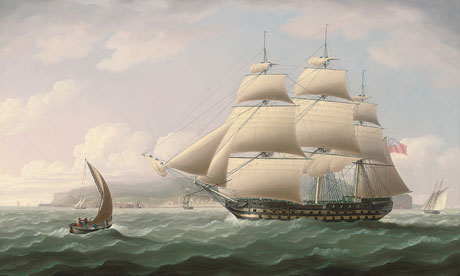 Thomas Butterworth's painting of the ship Dunira