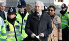 WikiLeaks founder Assange arrives at the Supreme Court