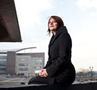 Leanne Wood, one of four candidates in the running for the leadership of Plaid Cymru.