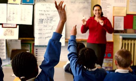 A class of children and their teacher