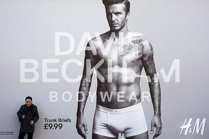 ... fashion: David Beckham launches his new range of underwear for H & M