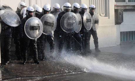 Belgian riot police