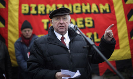Arthur Scargill Attends The Memorial Of The Battle Of Saltley Gate
