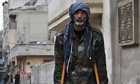 Wounded Syrian rebel
