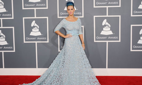 Katy Perry arrives at the Grammys