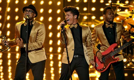 Bruno Mars at the 54th Grammys in Los Angeles