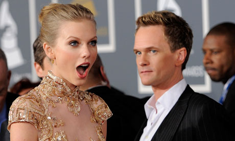 Taylor Swift, Neil Patrick Harris at the Grammys