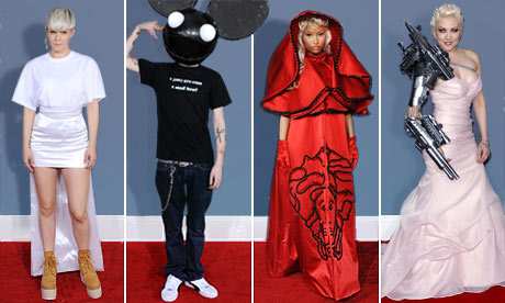 Robyn, DJ Deadmau5, Nicki Minaj and  Sasha Gradiva at the Grammy Awards