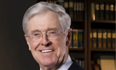 The billionaire Charles Koch, a key financier of the Heartland Institute