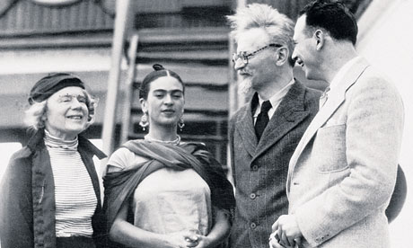 Leon Trotsky with Frida Kahlo