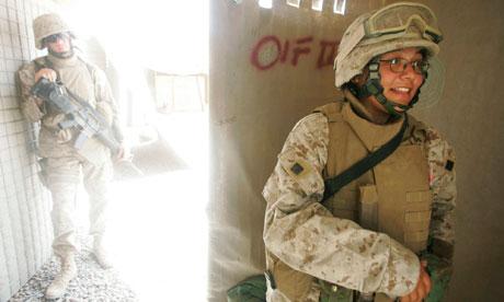 Female Marine in Fallujah, Iraq, 2005