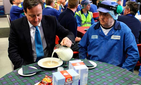 David Cameron visits Scotland