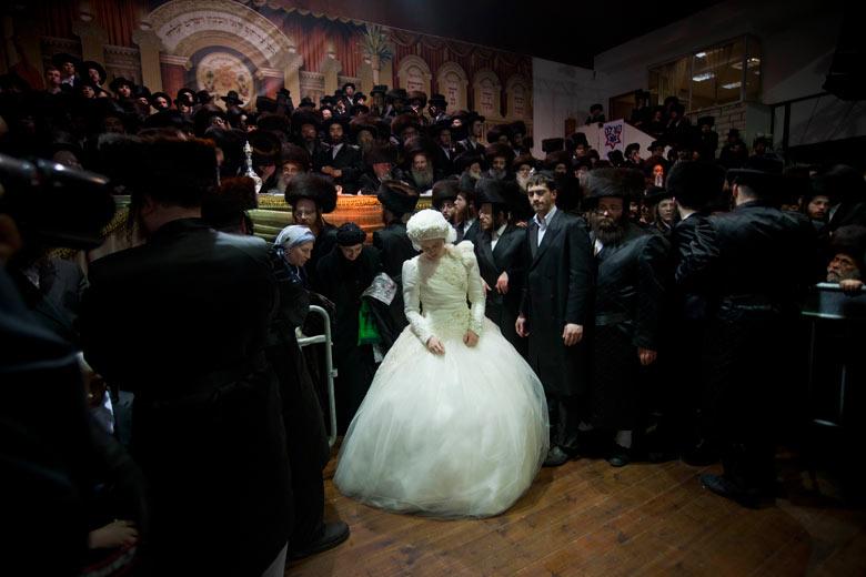 UltraOrthodox Jewish bride Nechama Paarel Horowitz at her traditional