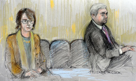 Chris Huhne and Vicky Pryce in court on 17 February 2012.