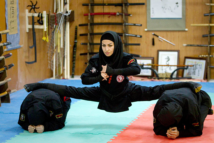Dont try this at home  001 Iran Cuts Off Oil to UK and France, Threatens World With Female Terror Ninjas (Photos)