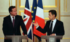 ***BESTPIX***UK PM David Cameron Attends Meetings With President Sarkozy
