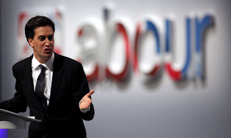 Labour leader Ed Miliband addressing the party conference in 2011